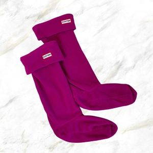 Hunter | Fuchsia Pink Fleece High Boot Socks